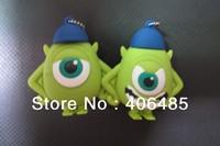 free shipping  10pcs /lot  Cartoon One-eyed monster Model USB 2.0 Flash Memory Pen Drive Stick 4-32GB