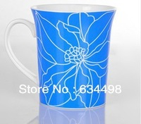 FREE SHIPPING New bone china mug  blue