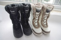 Free Shipping Slip-resistant waterproof thermal women's skiing shoes knee-high outdoor snow boots