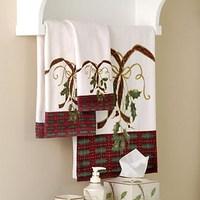 100% Christmas millenum cotton christmas towel christmas bath towel
