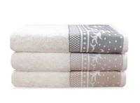 Tesrrays cotton bath towel jacquard satin spiral white bath towel
