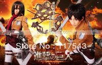 Attack on Titan Shingeki no Kyojin Training Legion Eren Costume/Attack on Titan Shingeki no Kyojin Mikasa Ackerman Costumes