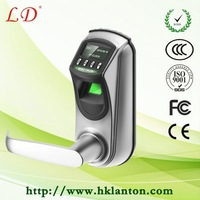 double latch fingerprint and digital keypad door lock