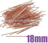 18mm Rose Gold Copper Head pins Jewelry Findings Jewelry Accessories Jewelry Fittings Nickel Free!!