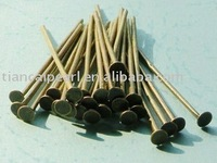 WWEL88935mm Head pin Headpins Antique brass bronze Jewelry Findings Accessories Fittings Components