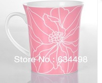 FREE SHIPPING New bone china mug  pink