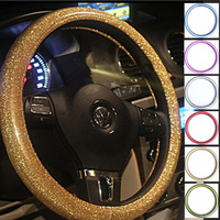 Car steering wheel cover powder flash neon women's four seasons general