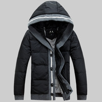 Winter duck down coat Men's clothing Short design Hoodies Casual brand.Free shipping 2013 Style Green Black