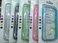Newest! For LG Nexus 4 E960 Bumper Frame Bumpers TPU Case Silicone Crystal Skin With Retail Package Free Shipping