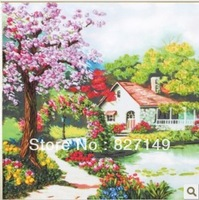 innovative items Ribbon embroidery 3d cross stitch large paintings home decoration wall hanging
