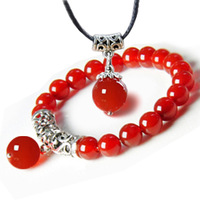 Separate hot-selling natural red agate bracelet ice types female Men lovers gift 05007