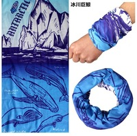 Glacier whale seamless magic bandanas moisture wicking bicycle ride bandana dust prevention face mask uvioresistant,Freeshipping