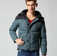 LOWEST PRICE!Free Shipping 2013 MENS Men's padded coat WHOLESALE GOOSE DOWN PARKA WARM jacket WINTER OVERCOAT,JACKET COAT HOODED