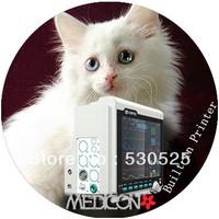 *Built-in Printer* CE Approved CMS6000 Veterinary 5 Multi-Parameter ICU Patient Monitor,ECG+NIBP+SPO2+RESP+TEMP+Thermal Recorder