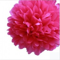 "OCT sale Free shipping 20pcs/lot Green Tissue Paper 14""( 35cm ) Pom Poms Party Evening Paper Flower Ball Wedding Decoration"