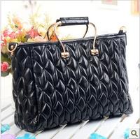 new 2013 fashion women messenger bag evening bags genuine leather diamond handbags designers brand black shoulder bags big size