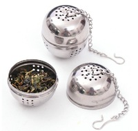 5 pcs/lot 2015 New 4.5cm Tea Strainer Stainless Steel Tea Ball Sphere Locking Spice Mesh tea coffee infuser Filter cooking tools