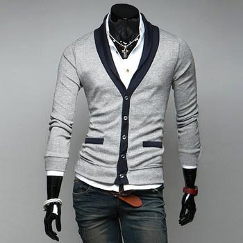 Бесплатная доставка осень зима с длинным рукавом свитер полноценно V воротник мужской джемпер тонкий свободного покроя свитера согреться мода