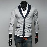 Free shipping autumn winter long-sleeve sweater high-grade V collar Men's Cardigan Slim Casual Sweaters keep warm  top fashion