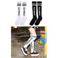 Pyrex stripe lovers long socks vintage thickening thermal high knee socks