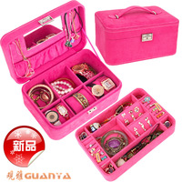 Handbag with lock jewelry box princess fashion jewelry box wool watch box jewelry storage box