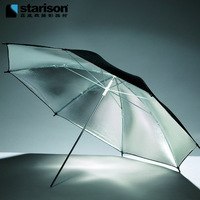 Photography Umbrella 43 Inches 109cm Black Silver Reflective Umbrella Photography Light Reflector