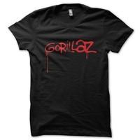 Gorillaz Classic Logo Mens Tshirt Rock n Roll Plus Size S/M/L/XL/XXL