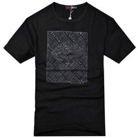 Men's clothing 2013 casual summer brief print o-neck plus size T-shirt male short-sleeve