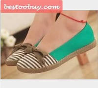 Flat heel shoes, Hot sale! 2013 Fashion dress shoes for lady. Free shipping! Comfortable footwear casual sweet colorful style
