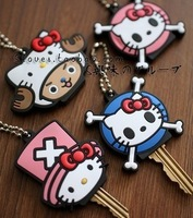 Cartoon soft tape chain key cover keychain