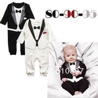 1 pcs 2013 Baby boy false gentleman printed 2 long sleeve jumpsuit ,Boy's  jumpsuit  kids jumpsuit  Free shipping