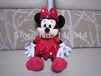 50cm red minnie mouse plush doll plush toy  birthday presents kids toy kids doll one piece free shipping