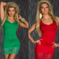 Top Quality Plus Size Sexy 3 Color Lingerie Women's Highly Stretchable Soft Lace Nightwear with T Back  Black Red Green