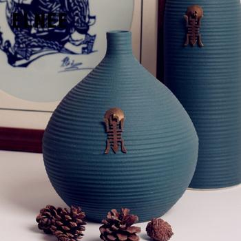 Modern fashion ceramic fashion brief floor vase flower living room decoration crafts