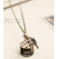 Lollipop vintage necklace antique brass necklace Women accessories