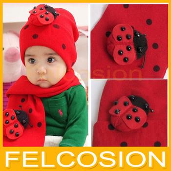 [ Bear Leader ] baby hat cap scarf twinset Cotton Beatles hat children hat+scarf Toddler animal AMZ001