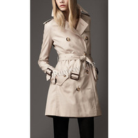RUNWAY LIFE 2013 Autumn New Style Womens Coat European Fashion Designer Fitted Trench Coat Double Breasted Military Pea Coats