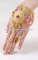 2013 New Belly Dance Accessories Indian Dance Bracelet Belly Dance Tassel Bell Bracelet Hot Selling 10pcs/lot