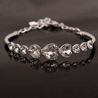 Fashion crystal love bracelet luxury lovers gift women's accessories