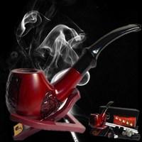 Red sandalwood smoking pipe handmade rosewood 8 piece set gift set