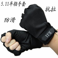 Tactical gloves outdoor camping supplies slip-resistant ride sports semi-finger gloves thin male