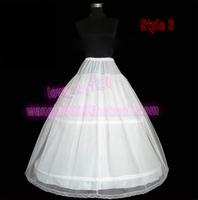 WHITE 2-Hoop 2-Layer Bride wedding petticoat