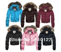 Free shipping 2013 NEW Down jackets for women fashion coats winter short collars brand clothing 6 colors
