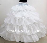 Wedding Bridal 4 Hoop 5 Overlay Underskirt Crinoline