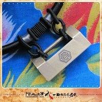 Handmade vintage brass padlock collar key chain