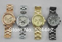 2013 New Arriva Watch Rose Gold For Women Black Men Fashion Diamond Wristwatch Janpan Quartz 4Colors 1pcs/lot free dropshipping