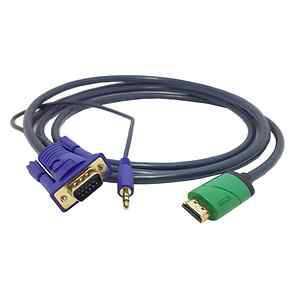 New HDMI Male to VGA Female RCA Audio HDMI to VGA Video Converter Cable 2M(China (Mainland))