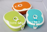 Fashion single rectangle stainless steel insulation lunch box lunch box lunch box of sealed heat preservation