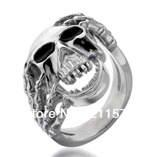 Sales swiss steel font b skull b font head man font b ring b font free
