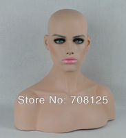 Female Hair Fiberglass  mannequin head bust for lace wig 21